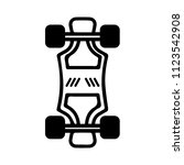 simple hoverboard icon with... | Shutterstock .eps vector #1123542908