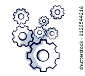 gear wheels symbolizing idea or ... | Shutterstock .eps vector #1123544216