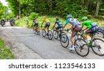 mont du chat  france   july 9 ... | Shutterstock . vector #1123546133