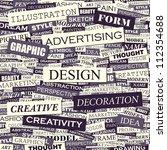 design. seamless advertising... | Shutterstock .eps vector #112354688