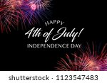 happy july 4th greeting with... | Shutterstock . vector #1123547483