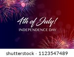 happy july 4th greeting with... | Shutterstock . vector #1123547489