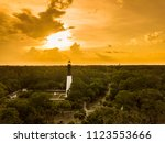 aerial view of hunting island... | Shutterstock . vector #1123553666
