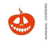 pumpkin with mughead for... | Shutterstock .eps vector #1123556903