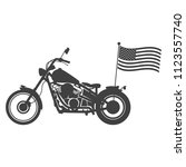 motorcycle on a white... | Shutterstock .eps vector #1123557740