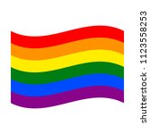 gay pride colorful rainbow flag ... | Shutterstock .eps vector #1123558253