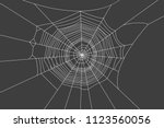 spider with web on a black... | Shutterstock .eps vector #1123560056