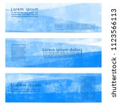 set of three banners  abstract... | Shutterstock .eps vector #1123566113