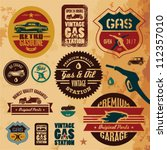 Vintage Gasoline Retro Signs...