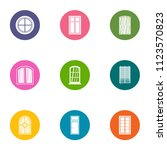 window aperture icons set. flat ... | Shutterstock .eps vector #1123570823
