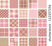 big plaid pattern set | Shutterstock .eps vector #112357256