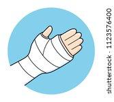 broken arm  bone fracture ... | Shutterstock .eps vector #1123576400