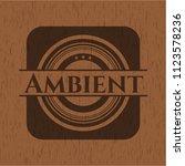 ambient realistic wooden emblem | Shutterstock .eps vector #1123578236