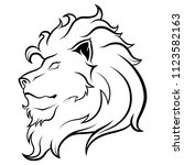 lion head logo | Shutterstock .eps vector #1123582163