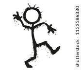 stick figure monsters swamp... | Shutterstock .eps vector #1123586330