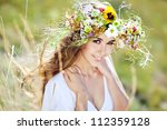 Girl Nature Wreath