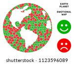 happiness and sorrow earth... | Shutterstock .eps vector #1123596089