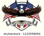 bald eagle design holding the... | Shutterstock .eps vector #1123598096