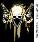 Pistol Toting Skull With...
