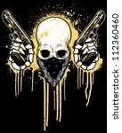 Pistol Toting Skull With...