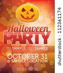 halloween party design   Shutterstock .eps vector #112361174