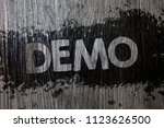 text sign showing demo.... | Shutterstock . vector #1123626500
