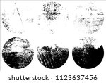 set of grunge textures in black ... | Shutterstock .eps vector #1123637456