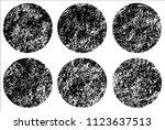set of grunge textures in black ... | Shutterstock .eps vector #1123637513