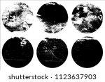 set of grunge textures in black ... | Shutterstock .eps vector #1123637903