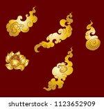 gold line thai fire tattoo.hand ...   Shutterstock .eps vector #1123652909