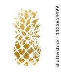 golden pineapple shape | Shutterstock .eps vector #1123654499
