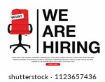 business hiring and recruiting... | Shutterstock .eps vector #1123657436