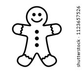 gingerbread man holiday biscuit ... | Shutterstock .eps vector #1123657526