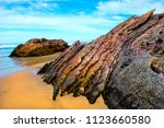 quarry beach shapes  this... | Shutterstock . vector #1123660580