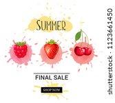 summer final sale banner.... | Shutterstock . vector #1123661450