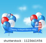 independence day usa banner... | Shutterstock . vector #1123661456