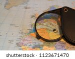 a magnifying glass for reading... | Shutterstock . vector #1123671470