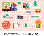 funny maze for children. help... | Shutterstock .eps vector #1123672550