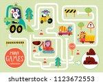 funny maze for children. help... | Shutterstock .eps vector #1123672553