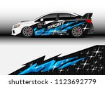 car wrap graphic racing...   Shutterstock .eps vector #1123692779