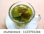 drink coca leaf tea for... | Shutterstock . vector #1123701266