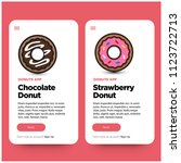donut recipe mobile app ux ui...