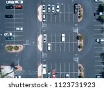 aerial photograph of parking... | Shutterstock . vector #1123731923