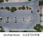 aerial photograph of parking... | Shutterstock . vector #1123731938