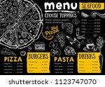 restaurant cafe menu  template... | Shutterstock .eps vector #1123747070