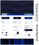 dark blue vector web ui kit...