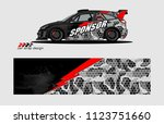 rally car livery graphic vector....   Shutterstock .eps vector #1123751660