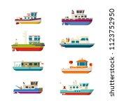 Vector Sea Or River Boats Set...