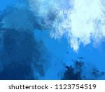 abstract painting on canvas.... | Shutterstock . vector #1123754519