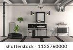 black and white vintage... | Shutterstock . vector #1123760000
